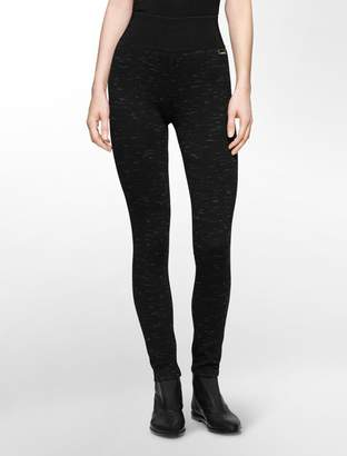 Calvin Klein space dye ponte knit leggings