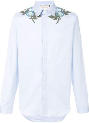 Gucci Floral embroidered shirt