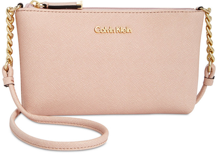Calvin Klein Calvin Klein Mini Saffiano Leather Crossbody