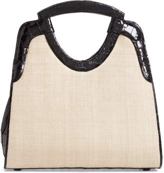 Nancy Gonzalez Small Genuine Crocodile Top Handle Bag