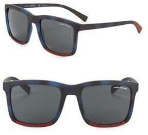 Armani Exchange 55MM Square Sunglasses