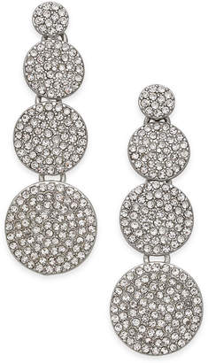 INC International Concepts I.n.c. Silver-Tone Pave Disc Drop Earrings, Created for Macy's
