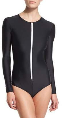 Cover UPF 50 Long-Sleeve Zip Swimsuit $190 thestylecure.com