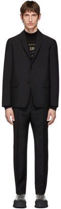Jil Sander Black Wool and Mohair Essential Suit