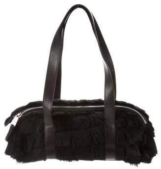 John Galliano Fur Shoulder Bag