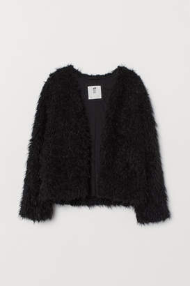 H&M Faux Fur Cardigan - Black