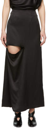 J.W.Anderson Black Asymmetric Cut-Out Skirt
