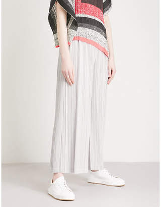 Pleats Please Issey Miyake Thick Bottom wide-leg high-rise pleated trousers