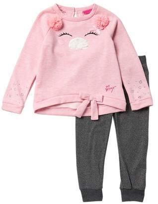 Betsey Johnson Pompom Sweater & Leggings Set (Toddler Girls)