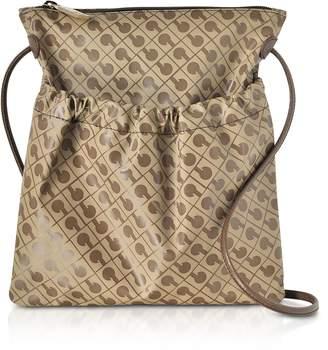 Gherardini Signature Coated Canvas and Leather Softy Crossbody Bag