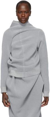 Jil Sander Grey Reflective Sweater