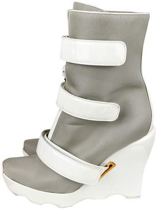 Louis Vuitton Grey Patent leather Boots