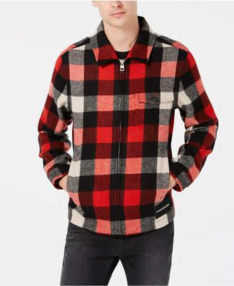 Calvin Klein Jeans Men's Mackinaw Harrington Plaid Jacket