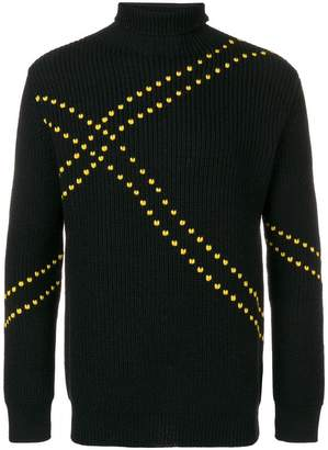 Raf Simons ribbed knit dotted sweater