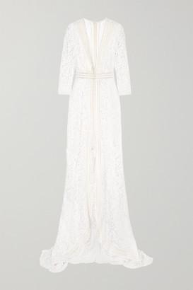 Galvan Sevilla Cotton-blend Lace Gown - White