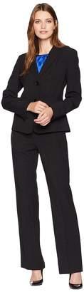 Le Suit Basketweave Two-Button Pants Suit w/ Cami Women's Suits Sets