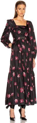 Nicholas Tiered Maxi Dress in Mulberry Multi | FWRD