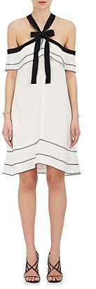 Proenza Schouler Women's Off-The-Shoulder Halter Tie-Neck Dress $1,150 thestylecure.com