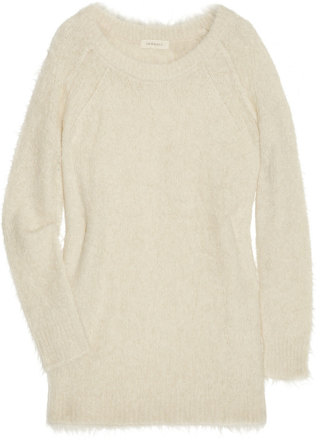 Inhabit Textured alpaca and silk-blend sweater