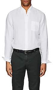 Hartford Men's Linen Button-Down Shirt - White