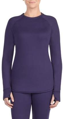 Cuddl Duds Climateright by women's thermal guard long underwear long sleeve crew neck top