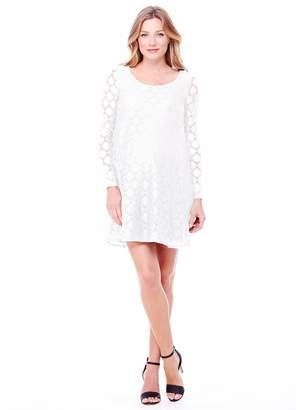 Ingrid & Isabel Women's Maternity Dot Lace Dress