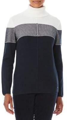 Olsen Colorblock Turtleneck Sweater