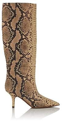 Yeezy Women's Faux-Python Leather Knee Boots
