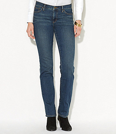 Lauren Ralph LaurenLauren Ralph Lauren Petite Super Stretch Slimming Classic Straight Jeans