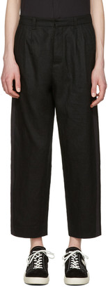 Fanmail Black Pleated Stripe Trousers $350 thestylecure.com