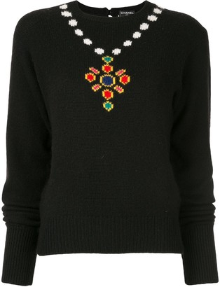 Chanel Pre-Owned 1995 intarsia knit jumper