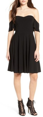 Women's Leith Off The Shoulder Fit & Flare Dress $65 thestylecure.com