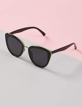 Lane Bryant Layered Cateye Sunglasses with Metal Trim