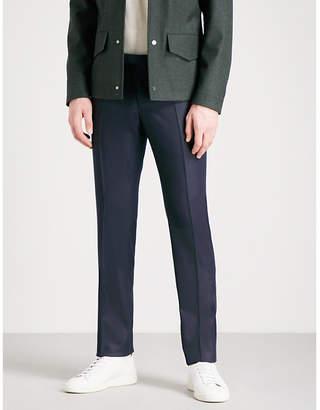 SLOWEAR Slim-fit wool-flannel trousers