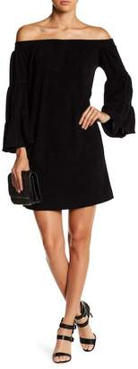 Couture Go Off-the-Shoulder Mini Bell Sleeve Dress