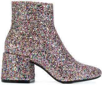 MM6 MAISON MARGIELA glitter booties