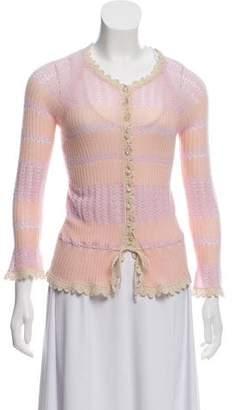 Louis Vuitton Cashmere Crochet-Trimmed Cardigan
