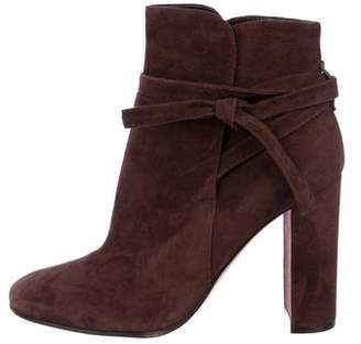 Gianvito Rossi Suede Ankle Booties