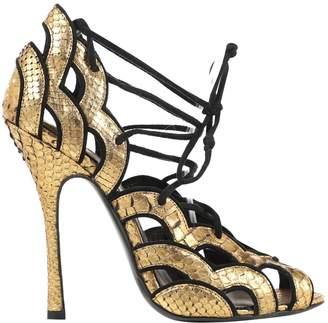 Tom Ford Gold Python Heels