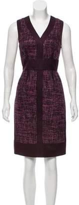 J. Mendel Sleeveless Contrasted Dress