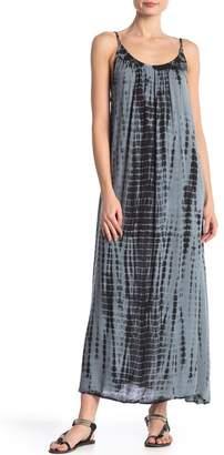 BOHO ME Cross Back Strap Tie Dye Maxi Dress