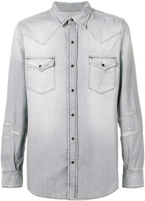 Saint Laurent western style denim shirt