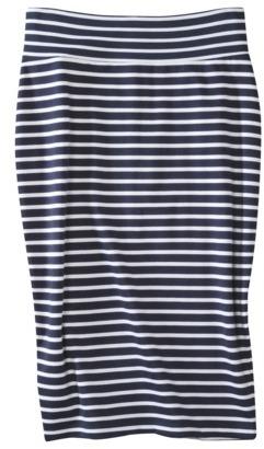 Mossimo Womens Ponte Stripe Skirt - Assorted Colors