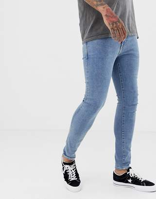 New Look skinny jeans in light blue wash