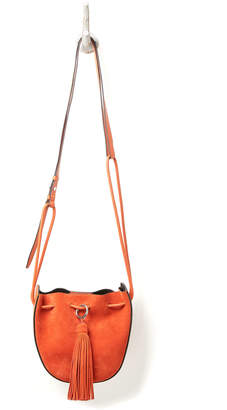 Rebecca Minkoff Suede And Leather Bucket Crossbody Bag