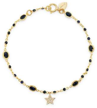 Meira T 14K Yellow Gold Blue Sapphire and Diamond Star Bracelet