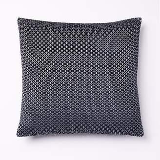 west elm Honeycomb Velvet Pillow Cover - Midnight