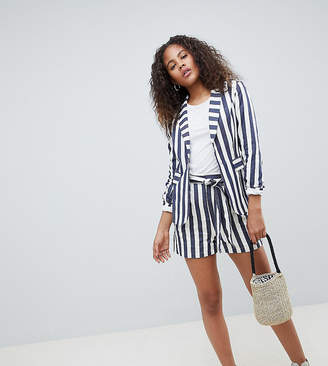 Glamorous Tall Tailored Shorts In Bold Stripe Co-Ord
