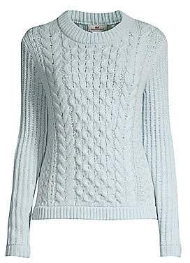 Vineyard Vines Women's Fisherman Wool& Cashmere Cable Knit Sweater