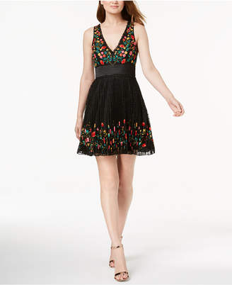French Connection Amity Embroidered Lace Dress